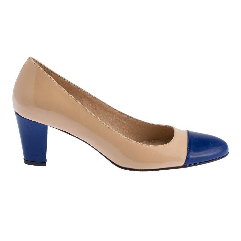 Nude-blue Heel