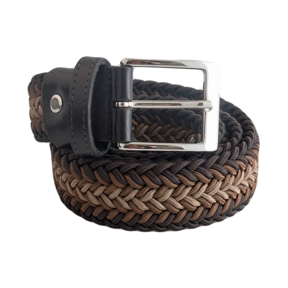 Brown & Beige  Elastic Belt