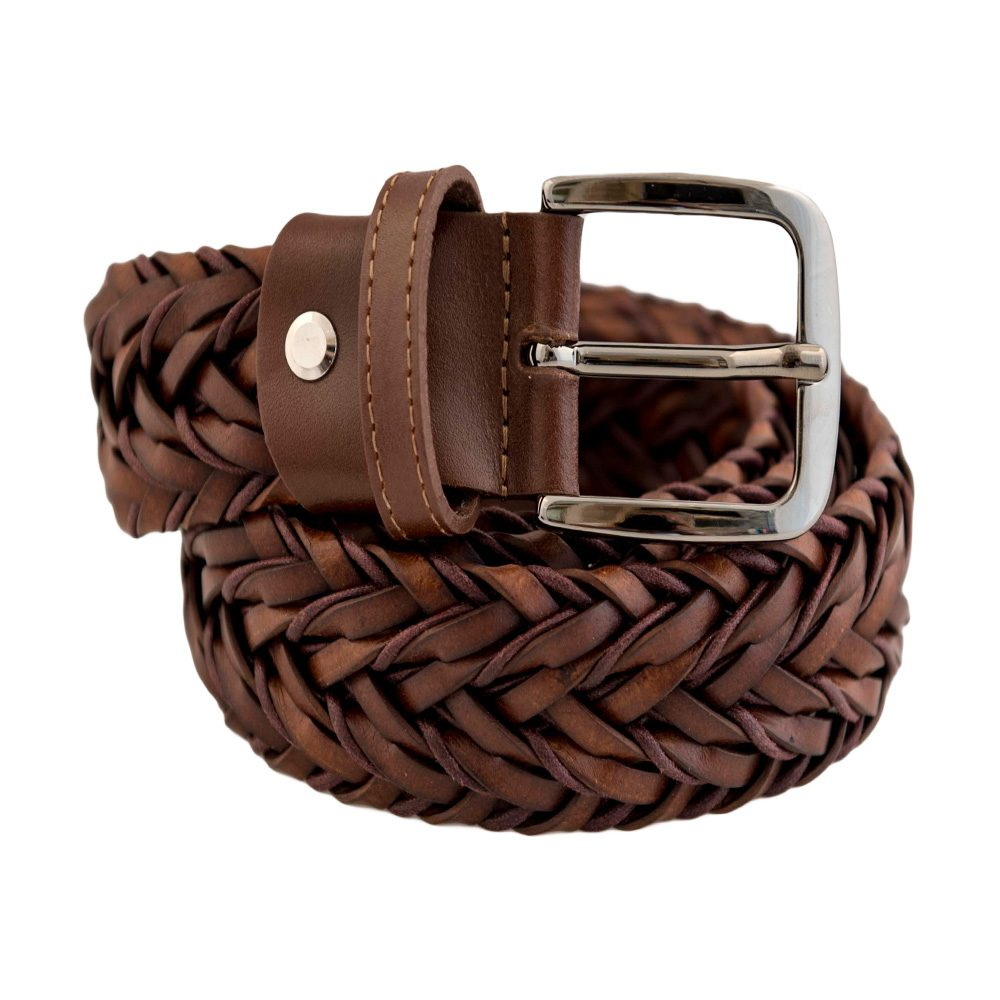 Leather Brown  (no elastic)