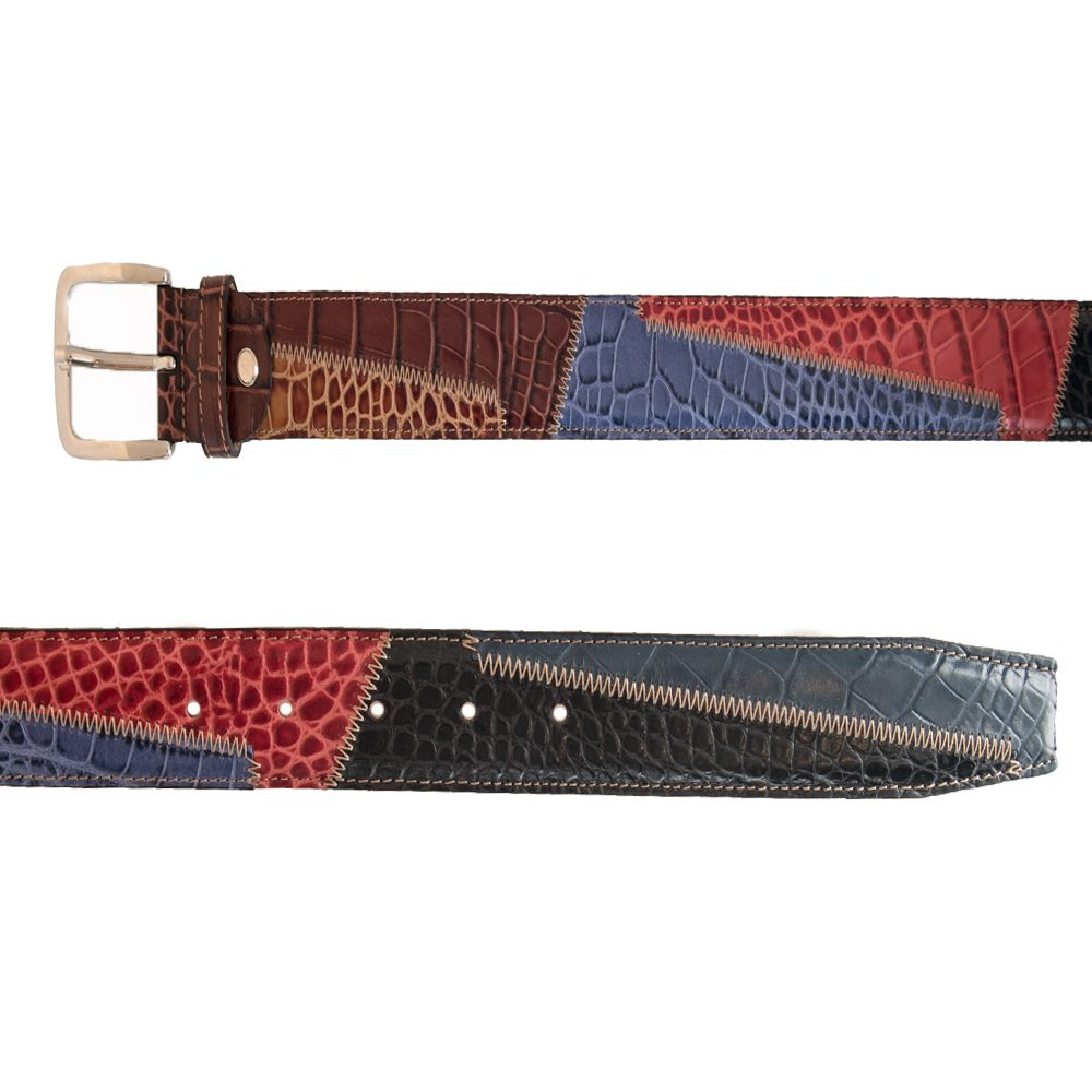 Leather multicolored crocodile